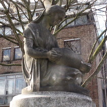 Frances Whiting memorial fountain