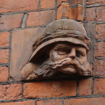 Drill Hall - head 5 - African/Indian soldier