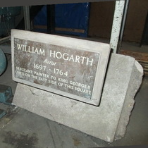 Hogarth lost plaque