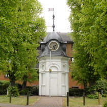 St Benedict's Hospital - turret + portico