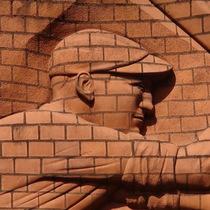Sir Leonard Hutton - brick sculpture
