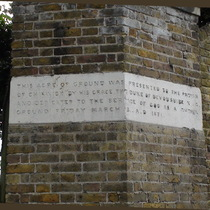 St Nicholas churchyard extension - north gate - north gate, west pier