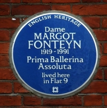 Dame Margot Fonteyn - WC2