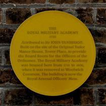 Royal Military Academy - original plaque