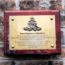 Royal Regiment of Artillery - replacement plaque