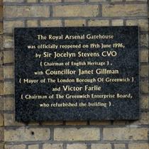 Royal Arsenal Gatehouse - reopened
