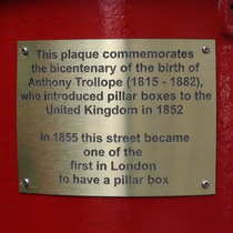 Anthony Trollope - pillar box - Piccadilly