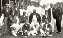 First cricket test match in England