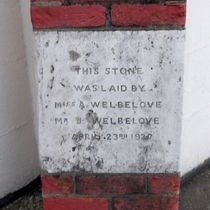 Kingston Spiritualist Church - Foundation Stone 1 - Welbeloves
