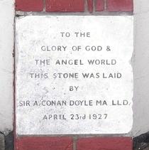Kingston Spiritualist Church - Foundation Stone 4 - Conan Doyle