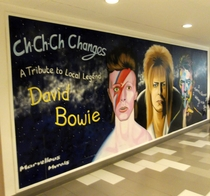 David Bowie mural - Bromley