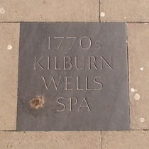 Kilburn Wells Spa - pavement plaque