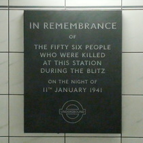 Bank Station WW2 bomb