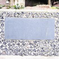 Croydon Minster war memorial - plaque