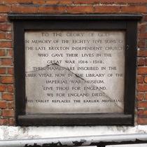 Brixton Independent Church - WW1