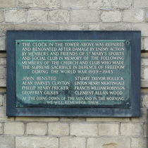 St Marys Sports and Social Club - WW2 memorial