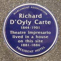 Richard D'Oyly Carte - WC1
