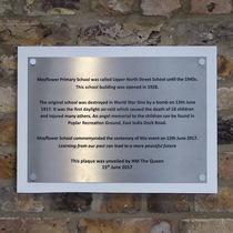 Upper North Street School - plaque 2