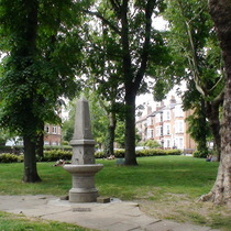 West End Green - fountain and tree