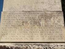 Wiliam Whiteley - biographical plaque