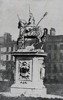 King George I statue, WC2 - lost