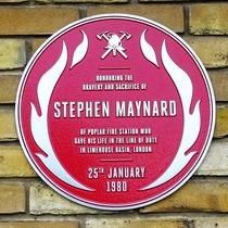 Stephen Maynard - red plaque