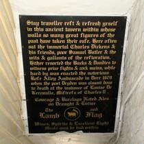 Lamb & Flag - pub information board