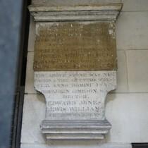 St John the Baptist Upon Walbrook - plaque