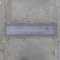 Foundling pavement plaque