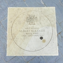Albert Mckenzie VC plaque