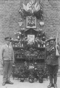 "Chalk Farm Bus garage - WW1 ""Grotto"" plaque"
