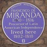 Francisco de Miranda blue plaque