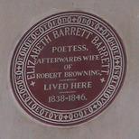 Elizabeth Barrett Browning plaque