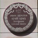 John Hunter plaque