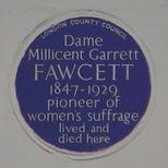 Dame Millicent Garrett Fawcett - WC1