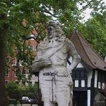 Charles II statue - Soho Square
