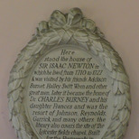 Sir Isaac Newton's house- detailed