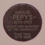 Samuel Pepys - WC2