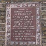 Pepys, Harley, Etty, Stanfield