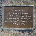 Queen Mother Rose Walk