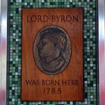 Lord Byron - non standard plaque