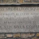Myddelton Square - WW2 bomb