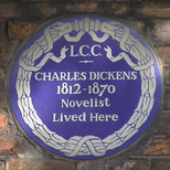 Charles Dickens Museum - blue plaque
