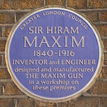 Sir Hiram Maxim and his gun