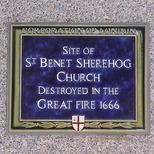 St Benet Sherehog Church - blue