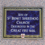 St Benet Sherehog Church - blue