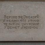 St Benet Sherehog Church - stone