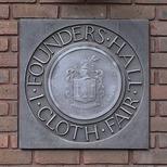 Founders' Hall - Cloth Fair, with crest