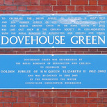 Dovehouse Green - blue plaques