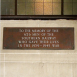 Waterloo WW2 plaque